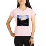 Eel River with Clouds Performance Dry T-Shirt