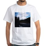Eel River with Clouds White T-Shirt