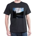 Eel River with Clouds Dark T-Shirt