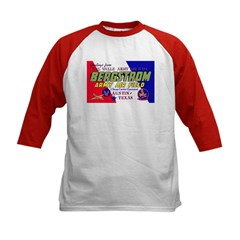 Bergstrom Army Air Base (Front) Kids Baseball Jers