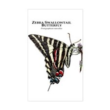 Zebra Swallowtail Butterfly Decal