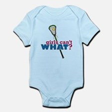Lacrosse Stick Green Infant Bodysuit