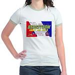 Bergstrom Army Air Base (Front) Jr. Ringer T-Shirt