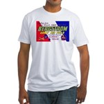 Bergstrom Army Air Base (Front) Fitted T-Shirt