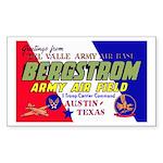 Bergstrom Army Air Base Rectangle Sticker