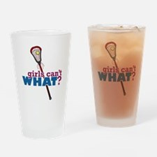 Lacrosse Stick Red Drinking Glass