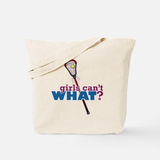 Lacrosse Stick Red Tote Bag