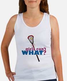 Lacrosse Stick Red Women's Tank Top