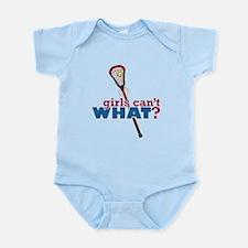 Lacrosse Stick Red Infant Bodysuit