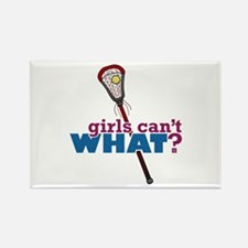 Lacrosse Stick Red Rectangle Magnet