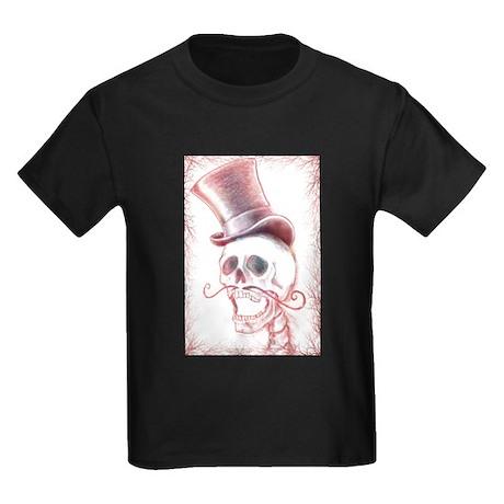 Dapper Dia De Los Muertos Kids Dark T-Shirt