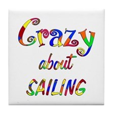 Crazy About Sailing Tile Coaster