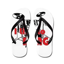Drum Set Humor Flip Flops