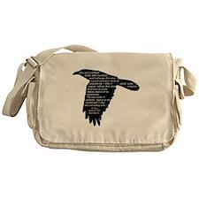 The Raven - Edgar Allan Poe Messenger Bag