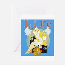 Life Travel Number Greeting Card