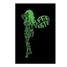 Swirly La Fee Verte Postcards (Package of 8)