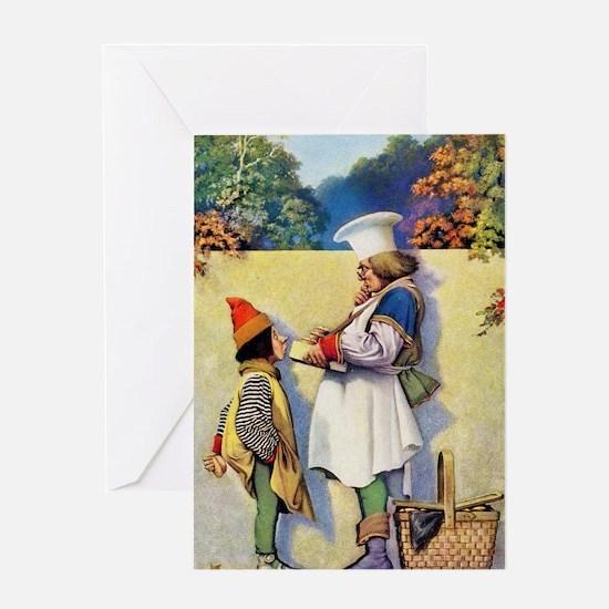Simple Simon Met a Pieman Greeting Card