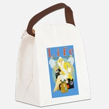 Life Travel Number Canvas Lunch Bag