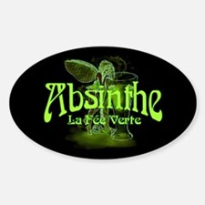 Absinthe Fairy Dark Sticker (Oval)