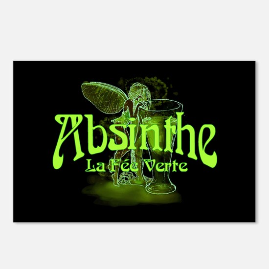 Absinthe Fairy Dark Postcards (Package of 8)