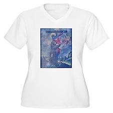 CAPTAIN MARVEL DECENDING FROM THE CROSS T-Shirt