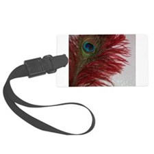 Peacock with Red Luggage Tag
