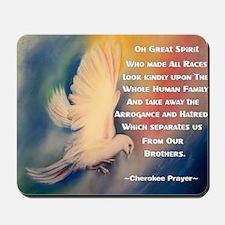 Cherokee Peace Prayer Mousepad