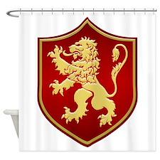 Gilded Lion Sigil Shower Curtain