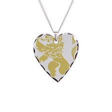 Gold Rampant Lion Necklace
