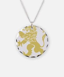 Gold Rampant Lion Necklace
