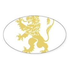 Gold Rampant Lion Decal