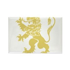 Gold Rampant Lion Rectangle Magnet