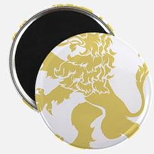 "Gold Rampant Lion 2.25"" Magnet (100 pack)"