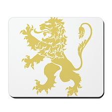 Gold Rampant Lion Mousepad