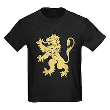 Gold Rampant Lion T