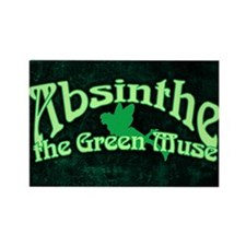 Absinthe The Green Muse Rectangle Magnet