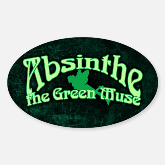 Absinthe The Green Muse Sticker (Oval)