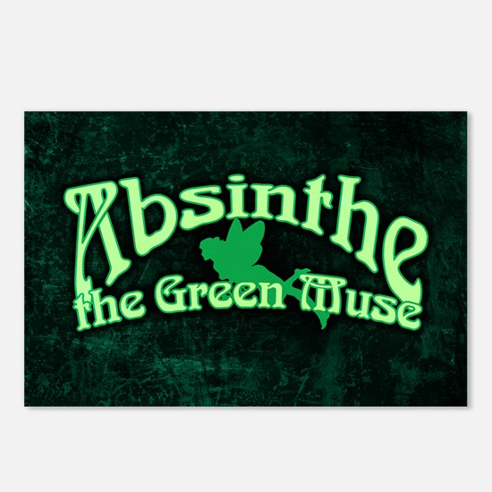 Absinthe The Green Muse Postcards (Package of 8)