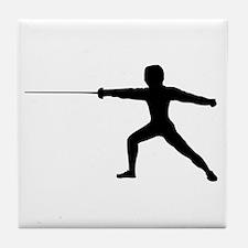 Guy Fencer Tile Coaster