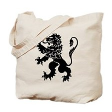 Black Lion Rampant Tote Bag