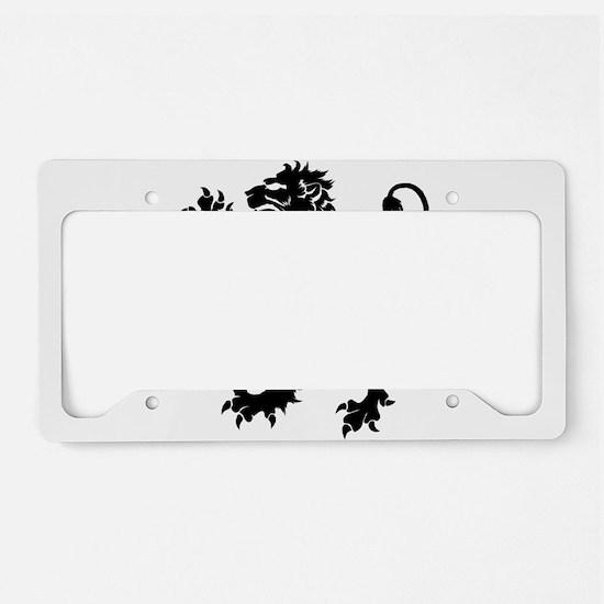 Black Lion Rampant License Plate Holder