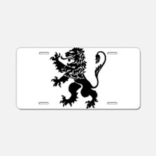 Black Lion Rampant Aluminum License Plate