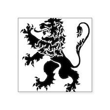 "Black Lion Rampant Square Sticker 3"" x 3"""