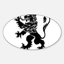Black Lion Rampant Decal