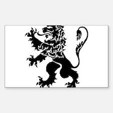 Black Lion Rampant Decal