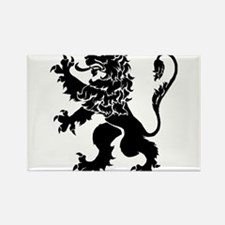 Black Lion Rampant Rectangle Magnet