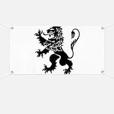 Black Lion Rampant Banner