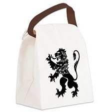 Black Lion Rampant Canvas Lunch Bag