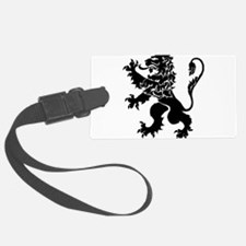 Black Lion Rampant Luggage Tag