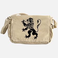 Black Lion Rampant Messenger Bag